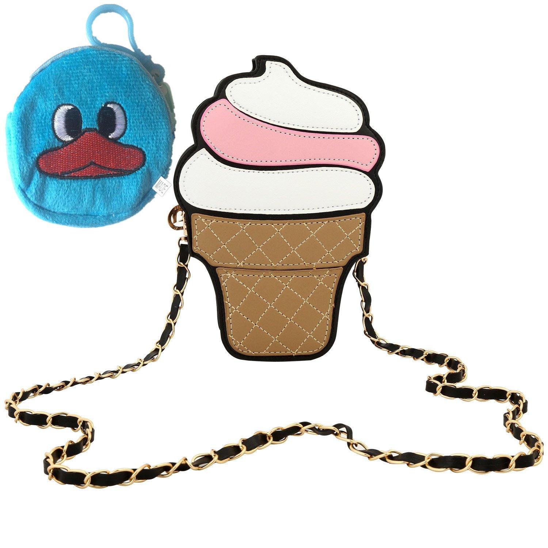 Amazon.com: ICE CREAM Cake novedad PU Crossbody Bolsas Bolsa ...
