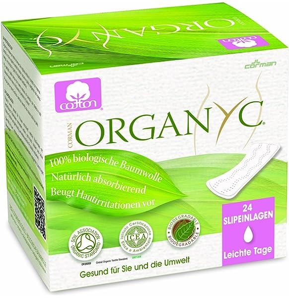Organyc - Salvaslip - 100% Algodón Biológico - 4 x 24 unidades ...