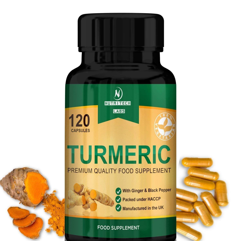cúrcuma con jengibre y pimienta negra - Alta Potencia [710mg] - Mejor suplemento para alivio del dolor de las articulaciones, antioxidante y ...