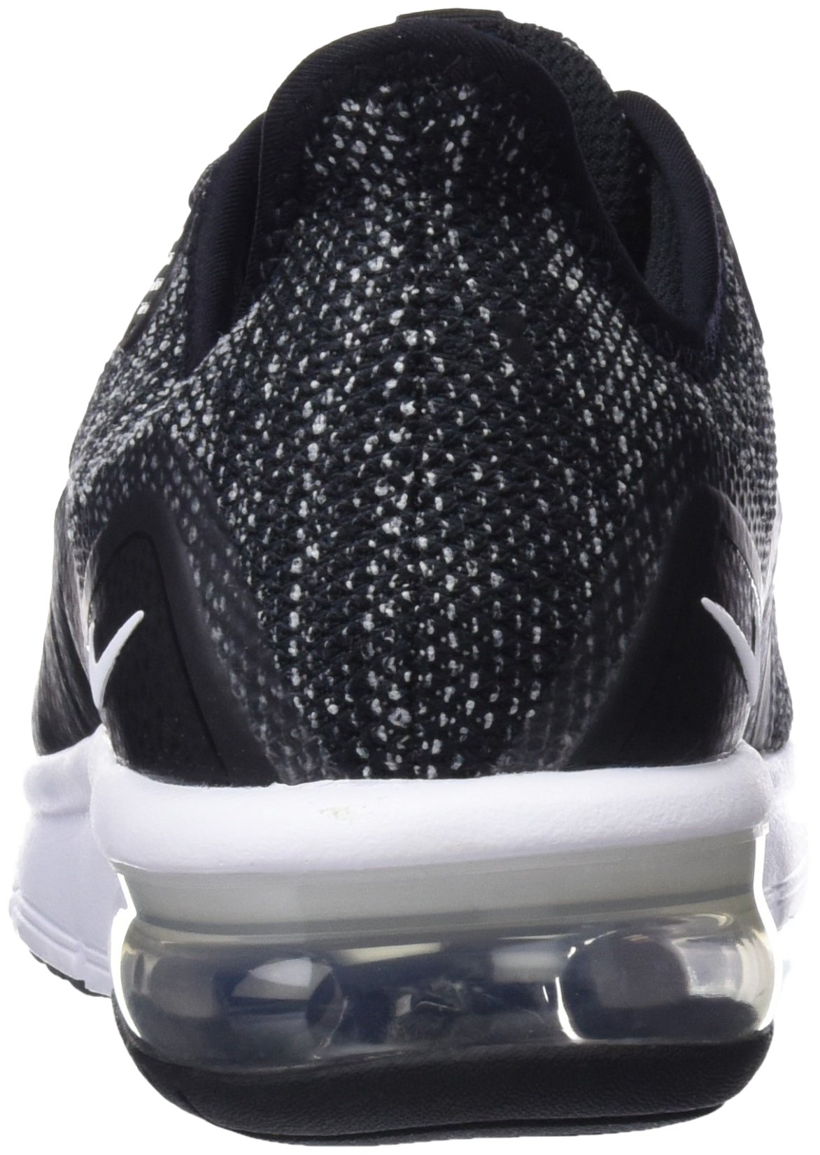 Nike Boy's Air Max Sequent 3 Running Shoe Black/White/Dark Grey Size 3.5 M US by Nike (Image #2)