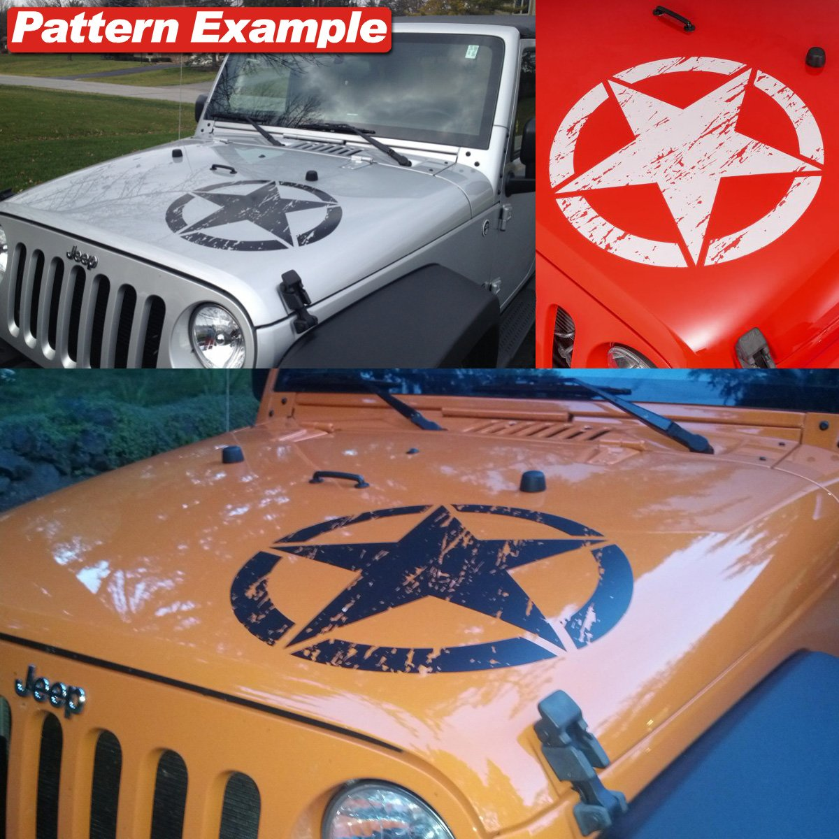 Amazoncom Jeep Wrangler Freedom Edition Star Hood Decal - Jeep hood decalsgraphics for jeep wrangler hood decals and graphics www