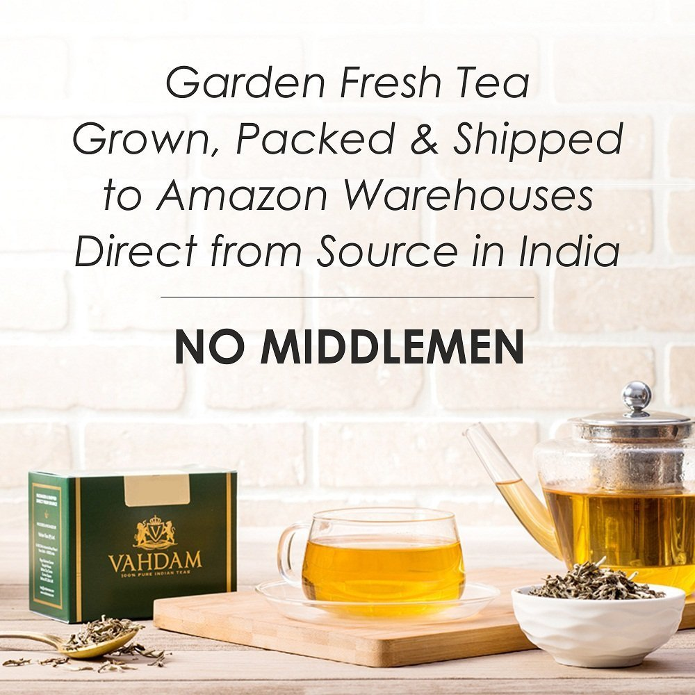 India's Traditional Cardamom Tea | Spiced Chai Tea | Brew Hot Tea, Iced Tea or Chai Latte | Masala Chai Tea | 7oz
