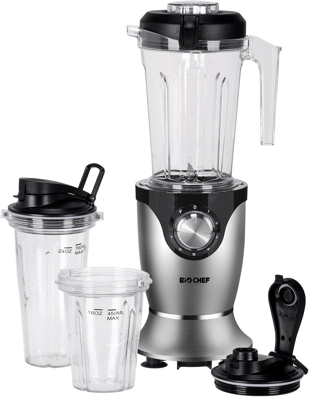 BioChef Galaxy – Batidora de vaso americana + Personal blender | 1.45L + 2 vasos 700ml y 400ml | 35.000 RPM | BPA Free: Amazon.es: Hogar
