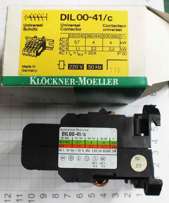 KLOCKNER MOELLER DIL 0-11 CONTATTORE BOBINA 220 V