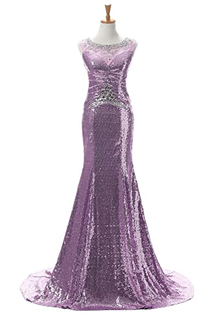 Qy Bride Chic Mermaid Holiday Prom Dresses Sequin Formal Gown 2019