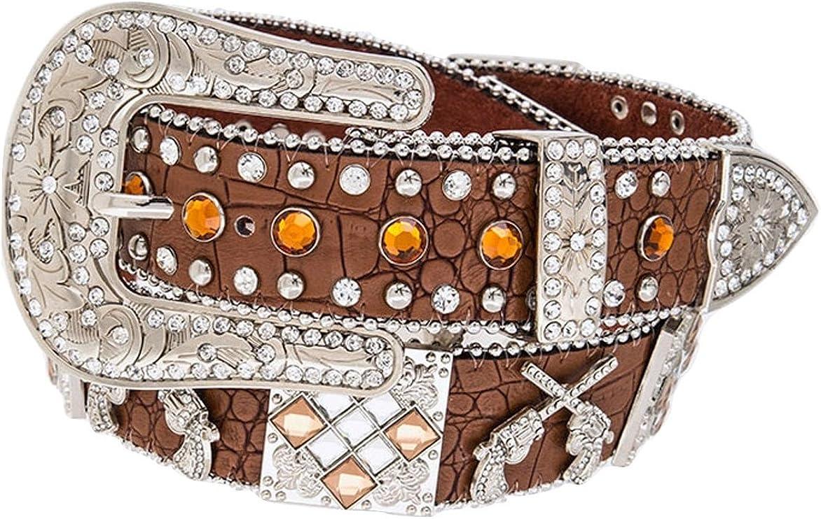 DF Western Cowgirl Six-Shooter Bling Rhinestone Belt