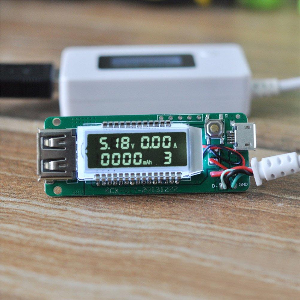 geladene Kapazit/ät YOTINO USB Multimeter Digitale Amperemeter Digitale Voltmeters Tester Detektor f/ür Spannung Strom