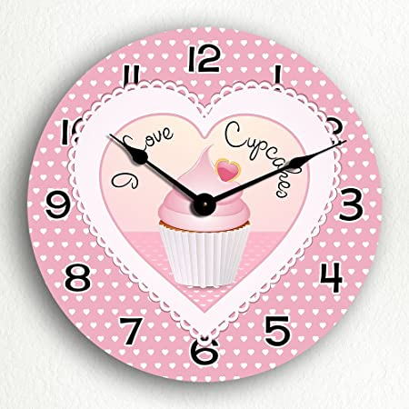 I Love Cupcakes 12 Silent Wall Clock