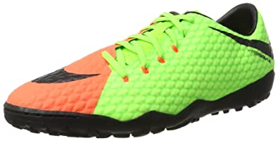 NIKE Mens Hypervenomx Phelon III Turf Shoes [Electric Green] (6.5)