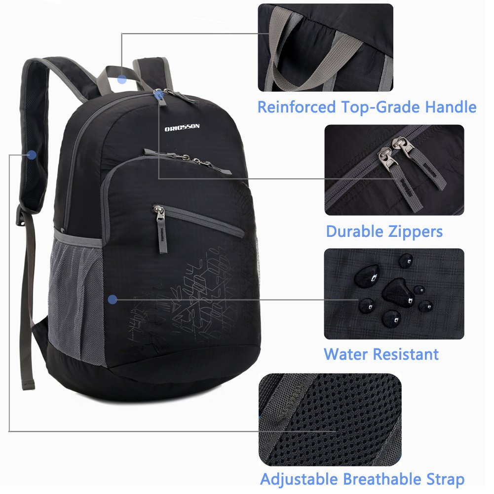 79a2ffbb786a Amazon.com  ORICSSON Durable Lightweight Water Resistant Durable Backpack  Daypack 20L 33L  Sports   Outdoors