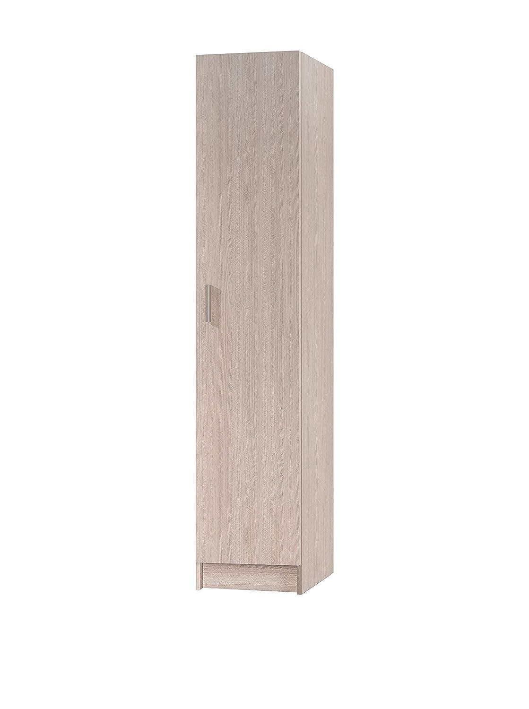 Armario multiusos 1 puerta color roble, beige: Amazon.es: Hogar