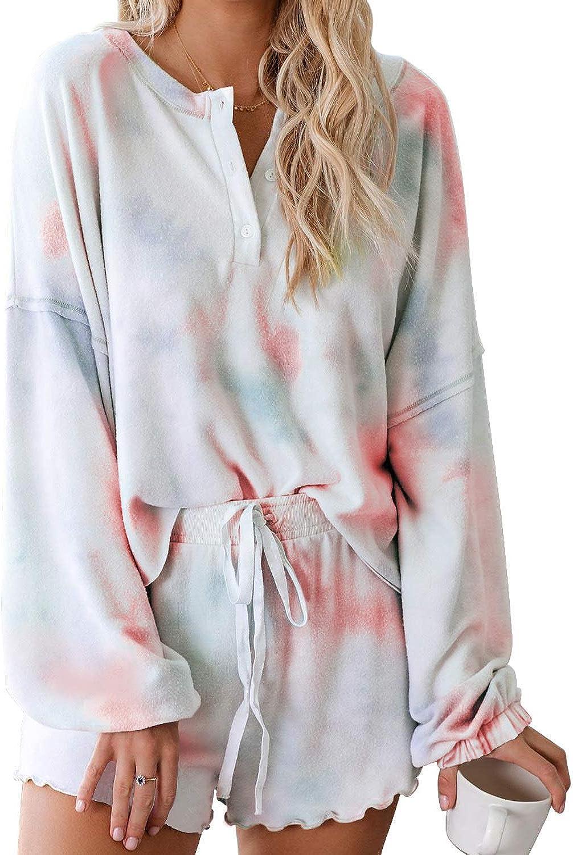 Clacire - Conjunto de pijama de manga larga con volantes ...
