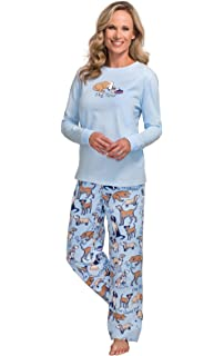 6dce9e388b Ekouaer Women s Pjs Print Animal Pajama Set Dog Elegant Pants ...