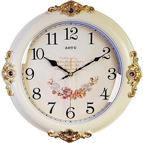 AIZIJI Relojes Mute Salón Elegante Reloj de Pared okake Creativa de los Grandes y Modernos Relojes