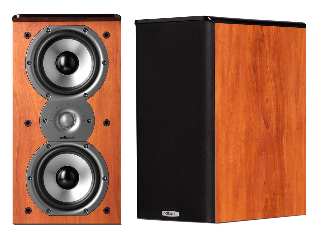 Parlante : Polk Audio Tsi200 Bookshelf Speakers Cherry (par)