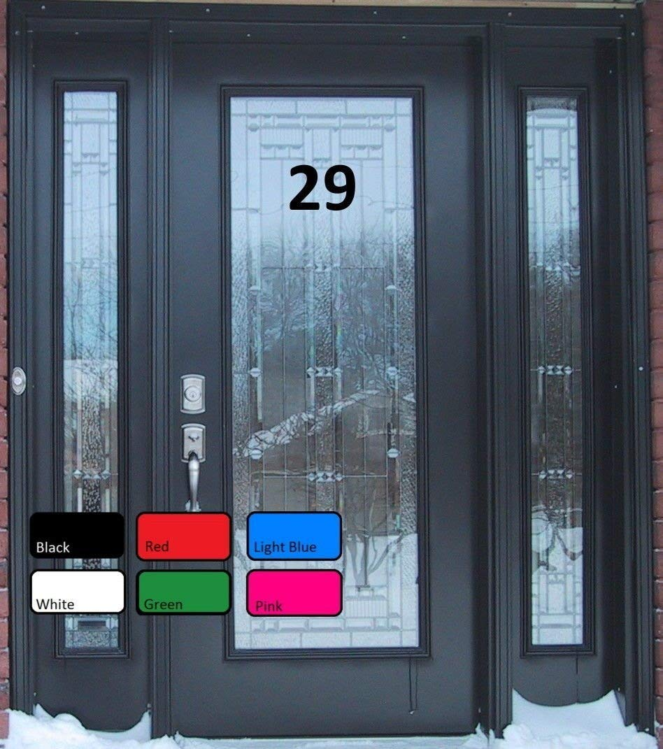 Door numbers stickers adhesive number stickers vinyl decal stickers door sign door decor vinyl stickers door stickers front door decal