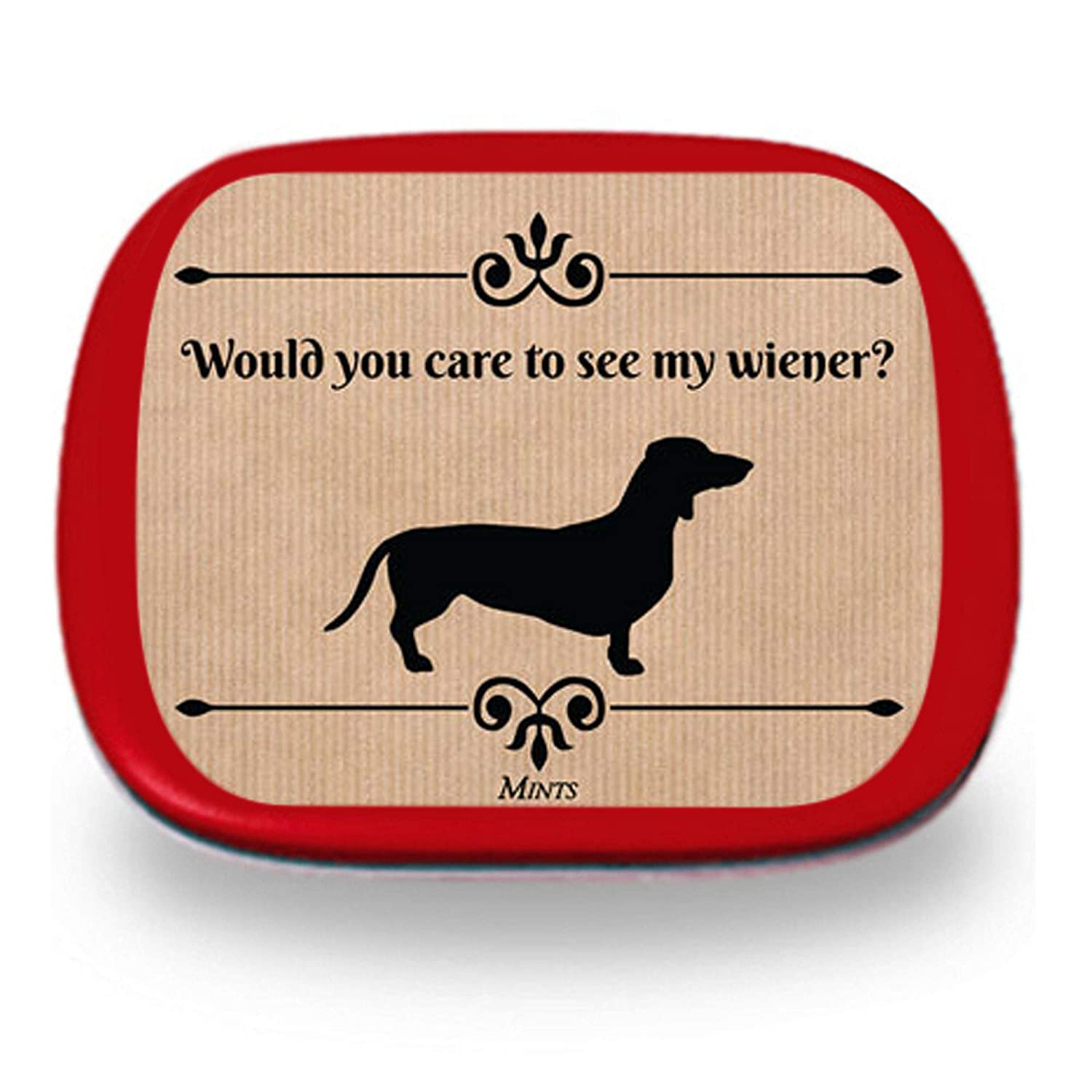 Would You Like To See My Wiener Mints - Funny Dachshund Gift - Stocking Stuffers for Men - Peppermint - Wiener Dog