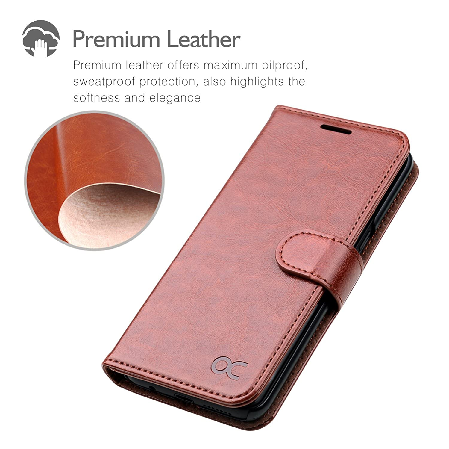 Ocase Samsung Galaxy S8 Case Leather Flip Wallet Goospery J3 2017 Pro Canvas Diary Orange For Devices Brown Cell Phones Accessories
