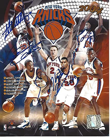 new concept cda80 1ade0 NEW YORK KNICKS 2004-Signed by DIKEMBE MUTOMBO #55, MIKE ...