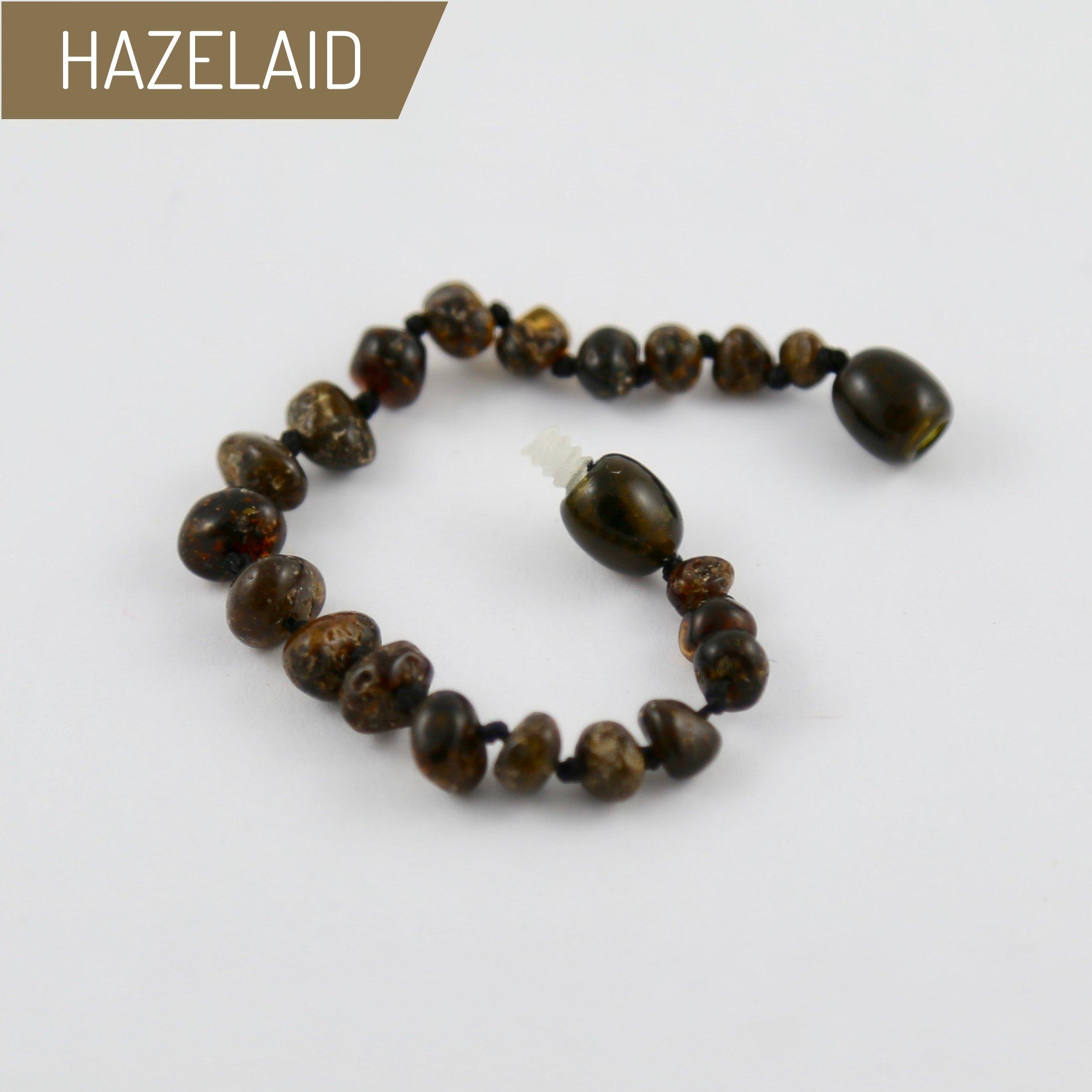 Hazelaid (TM) 5.5'' Baltic Amber Dark Green Bracelet