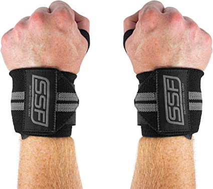 Pair of Thumb Loop Lifting Wrist Wraps Straps Wristband for Weight Lifting