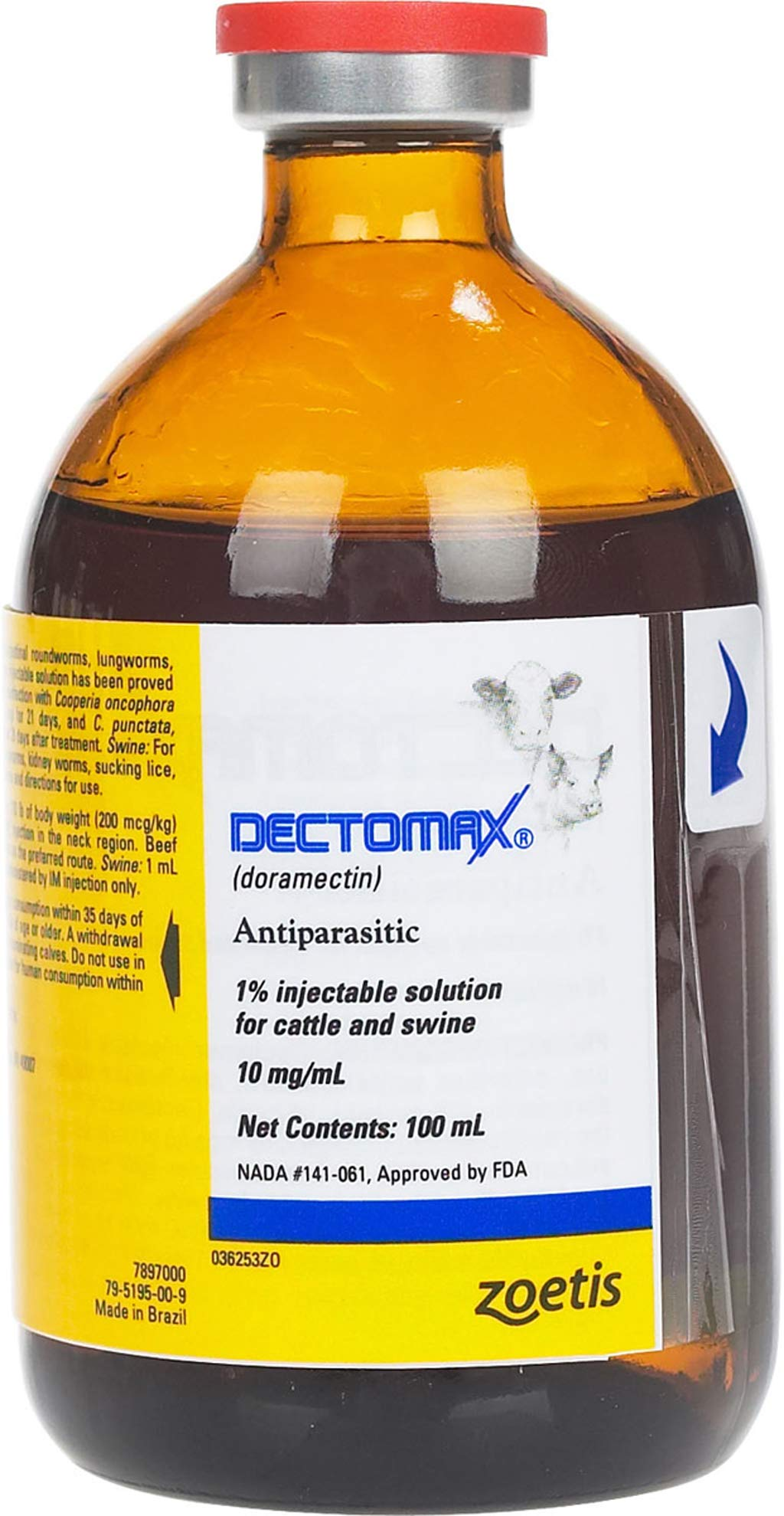 Dectomax 1% Injectable for Cattle 100ml by Pfizer