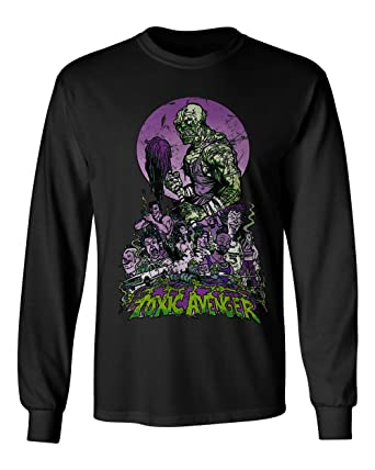8cb1fd0a66b RIVEBELLA New Novelty Graphic Tee Toxic Avenger Mens Long Sleeve T-Shirt