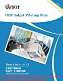 """OHP Film Overhead Projector Film single side coated film - 8.5x11"""" For Inkjet Printer only Film 20 Sheets Uinkit"""
