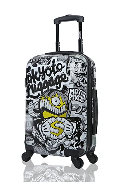 Carry On Cabin Luggage 55x35x20 Suitcase 20 Inch Approved Lightweight 4  Wheel Hard Case Kids