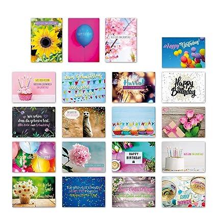 ewtshop 20 tarjetas postales Juego Cumpleaños con 20 Frases ...