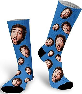 Custom Face Print Solid Color Mens Socks Custom Face Socks