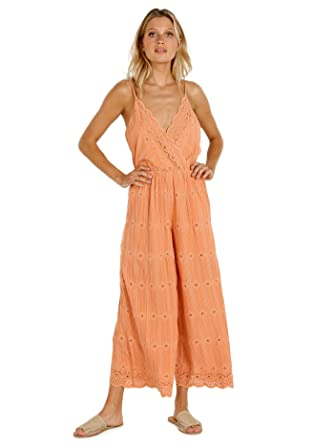 d10662a71859 LSpace Women s Threads Ciara Eyelet Jumpsuit Swim Cover Up at Amazon  Women s Clothing store