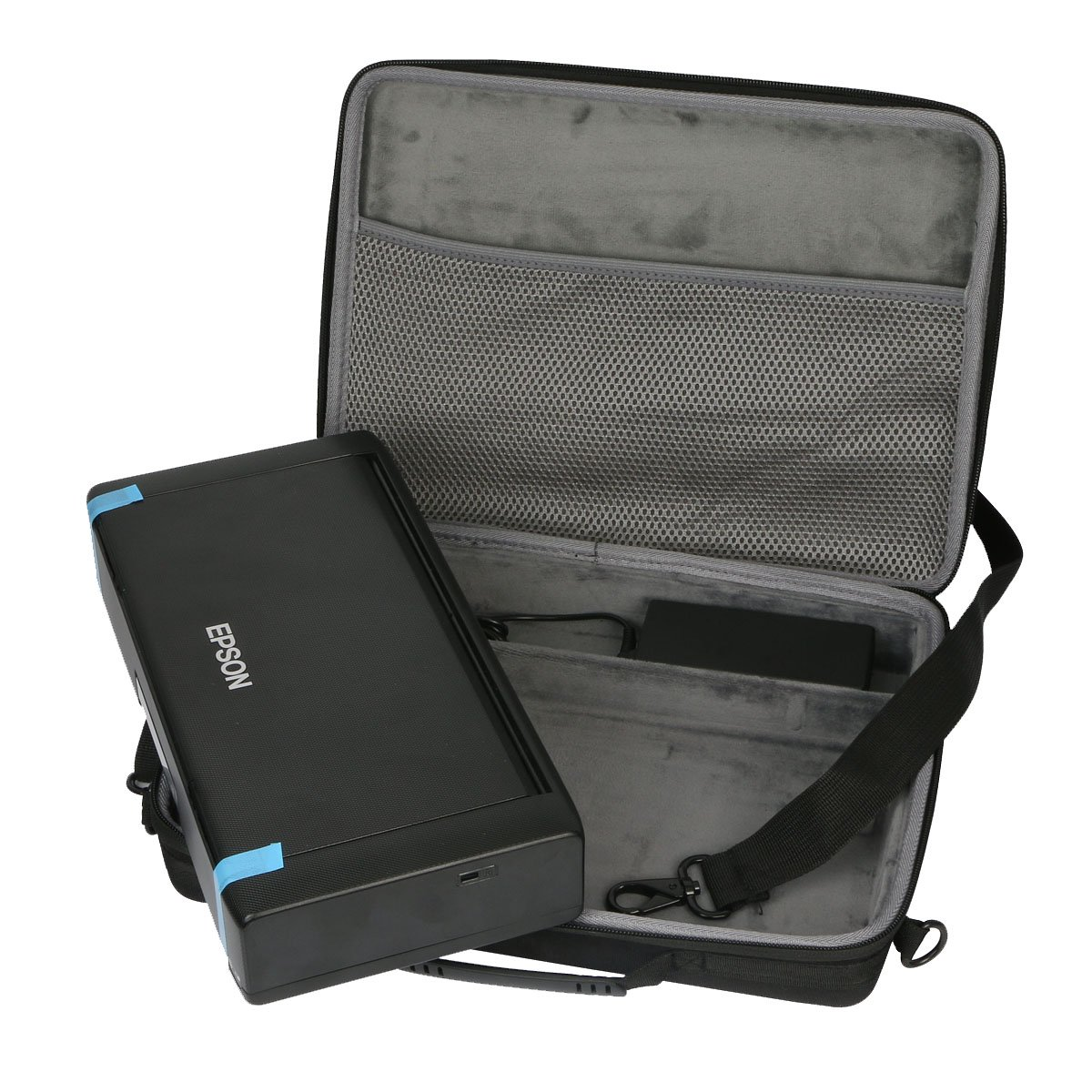 Custodia rigida per stampante a getto d'inchiostro Epson Workforce WF-100W con batteria integrata da co2CREA oz17526-30