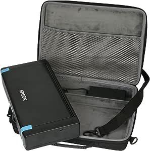 co2CREA Duro Viajar Caja Estuche Funda para Epson Workforce WF-110W Impresora de inyección de Tinta portátil(Caja Solo)