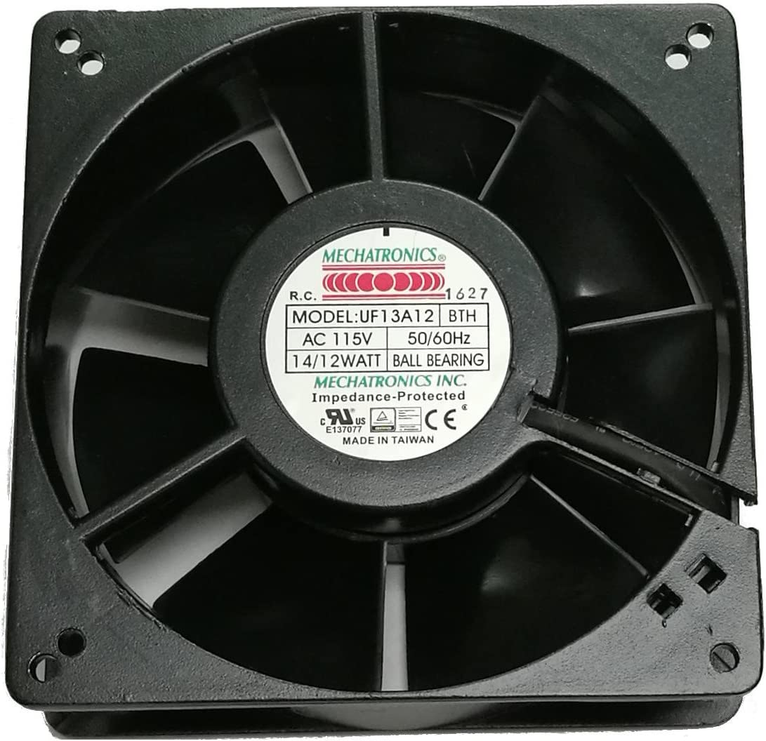 Mechatronics 115V AC Fans (127x38mm, High Speed)
