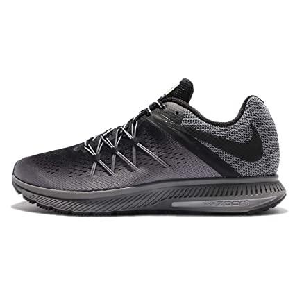 uk availability 91a79 6a192 Nike Air Zoom Winflo 3 Shield Black/Black/Cool Grey/Wolf Grey Men's Running  Shoes