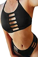 HOTAPEI Women Cut out Vintage Pin up Two Piece Tankini(FBA Optional)
