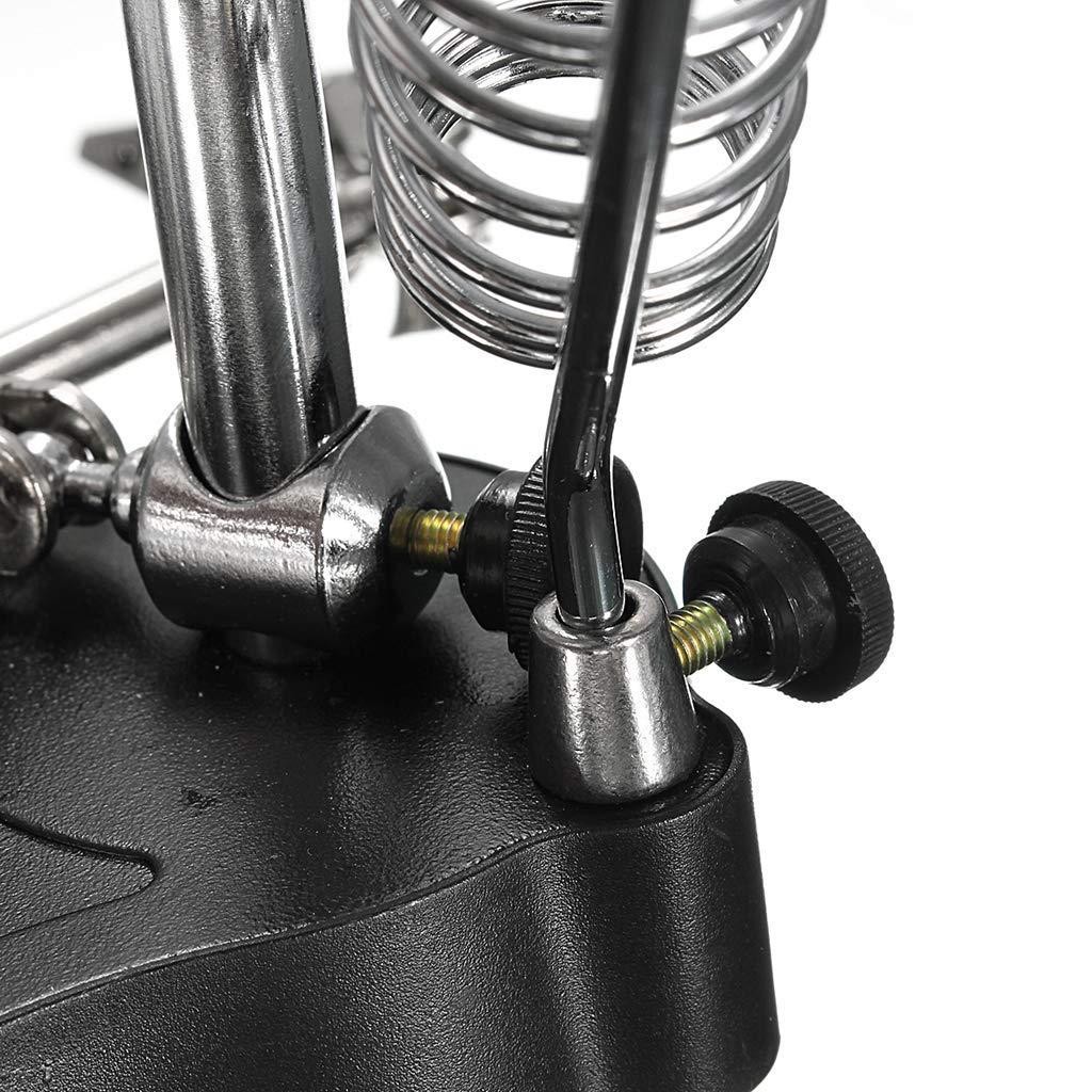 Backbayia Support de Fer /à Souder /Électronique Avec Loupe Outil R/éparation Kit Bricolage