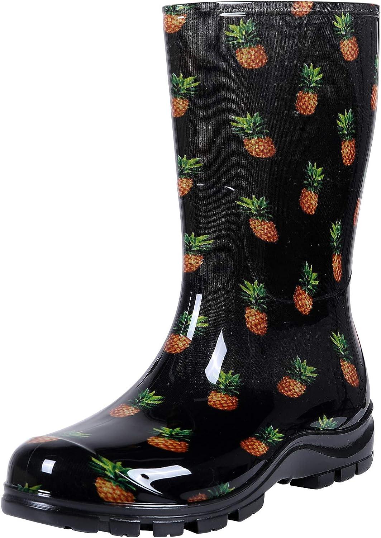 Asgard Women's Mid Calf Rain Boots Short Waterproof Garden Shoes