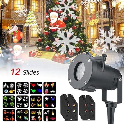 Amazon.com: KIMTAN 12 patrones al aire libre impermeable LED ...