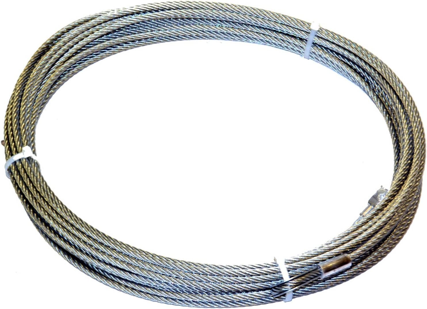 "5//16/"" x 50 ft Galvanized Wire Rope Winch Cable with Button"