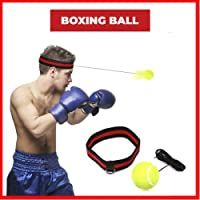Reflex Boxing Ball,SGODDE Fight Ball Reflex on String with Headband for Fight MMA Training Speed Reactions Adult/Kids Improve Punch Focus Sport Exercise Practice Fitness Elastic Rope Head Band Set Cap