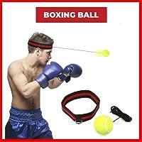 SGODDE Boxen Training Ball, Reflex Fightball, Speed Fitness Punch Boxing Ball mit Kopfband, Trainingsgerät Speedball für Boxtraining Zuhause und Outdoor