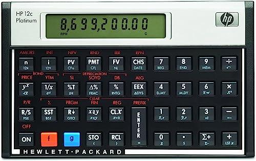 HP 12CP Platinum Financial Calculator
