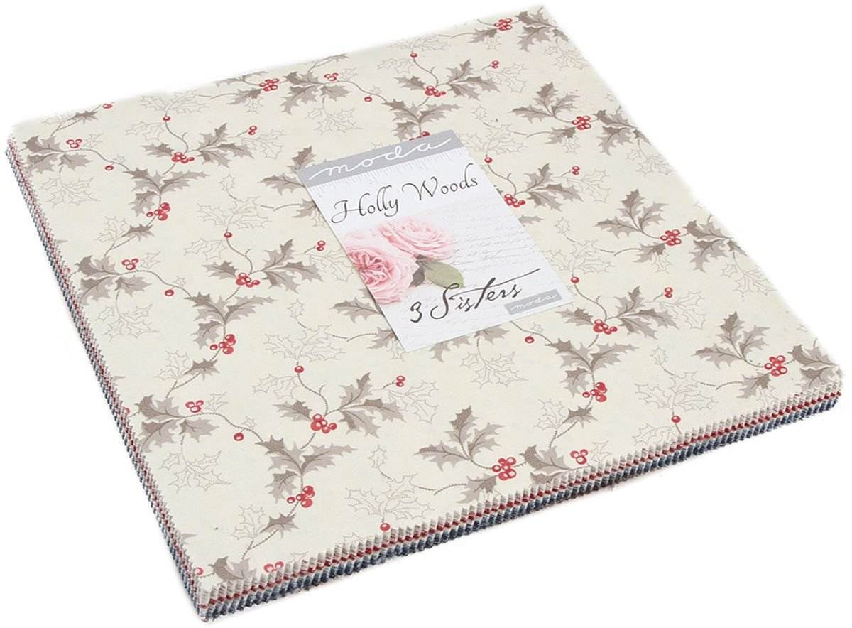 Holly Woods Layer Cake, 42-10 inch Precut Fabric Quilt Squares by 3 Sisters by MODA