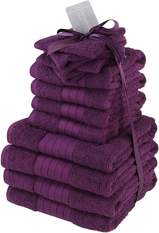 Dreamscene - Juego de Toallas de baño, 100 % algodón, tamaño ...