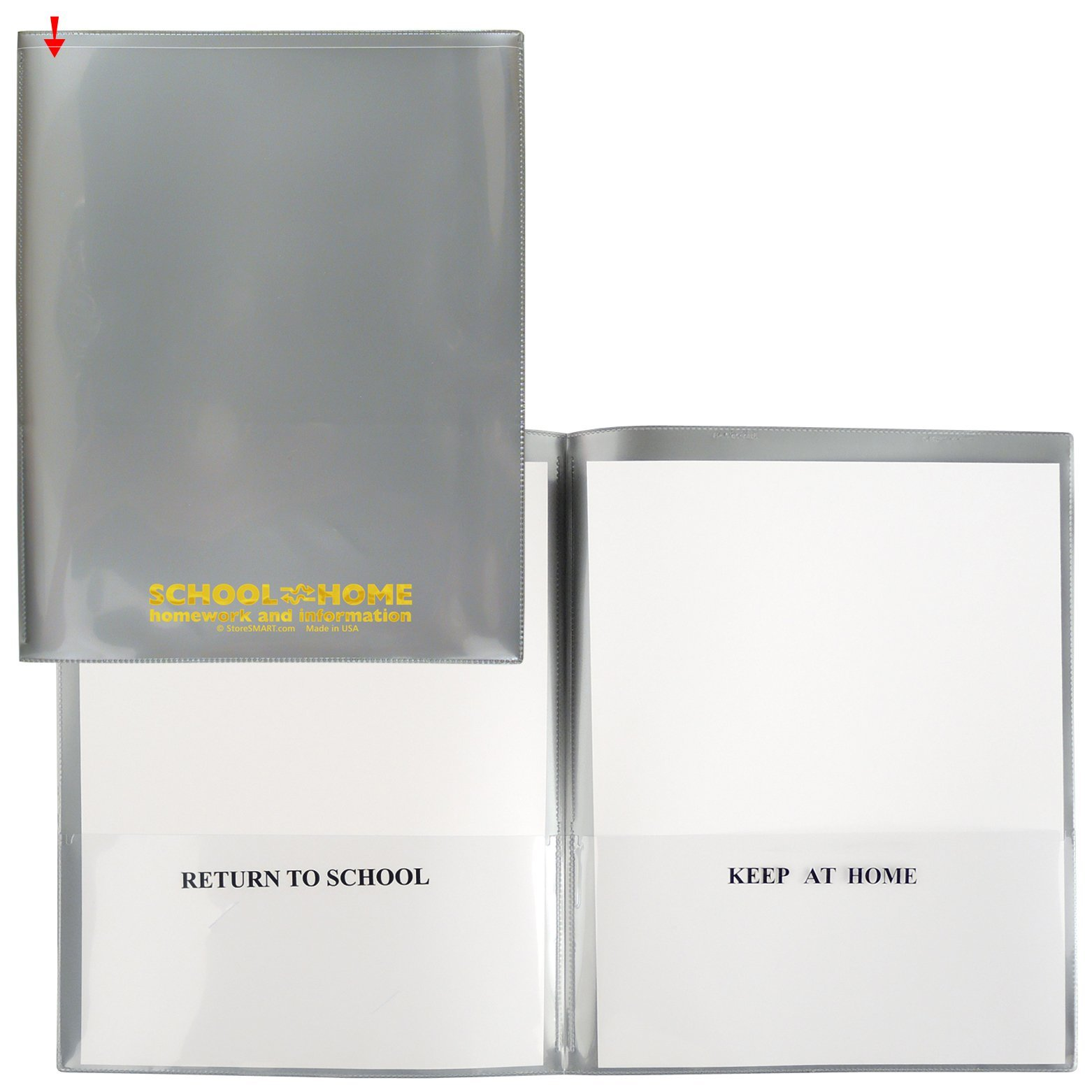 StoreSMART - School / Home Folders - Silver - 100-Pack - Archival Durable Plastic - Homework and Information - SH900SV-S100
