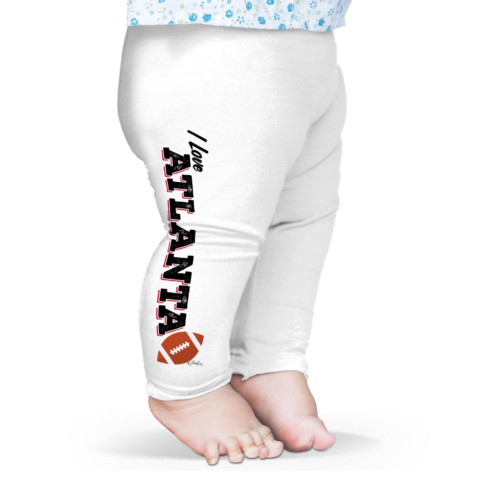 Twisted Envy Baby I Love Atlanta American Football Leggings Trousers 6-12 Months White
