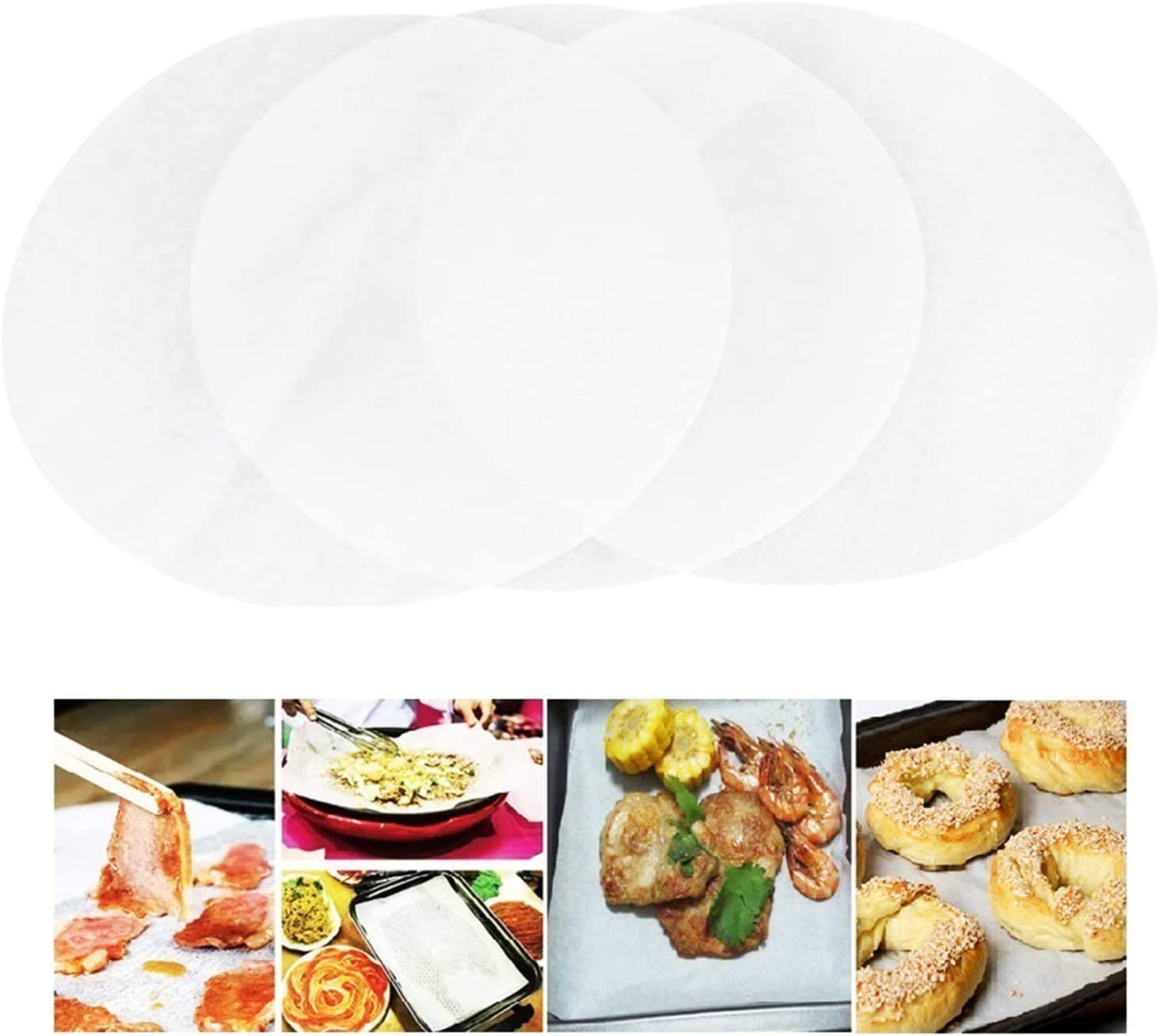 Papel de pergamino antiadherente rollo de papel seguro papel de hornear alfombrillas de cocina taza de cocina 30cm X 5m bandeja para hornear pizzas papel a prueba de grasa galletas