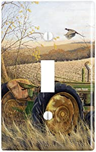 GRAPHICS & MORE Tractor on The Farm Plastic Wall Decor Toggle Light Switch Plate Cover